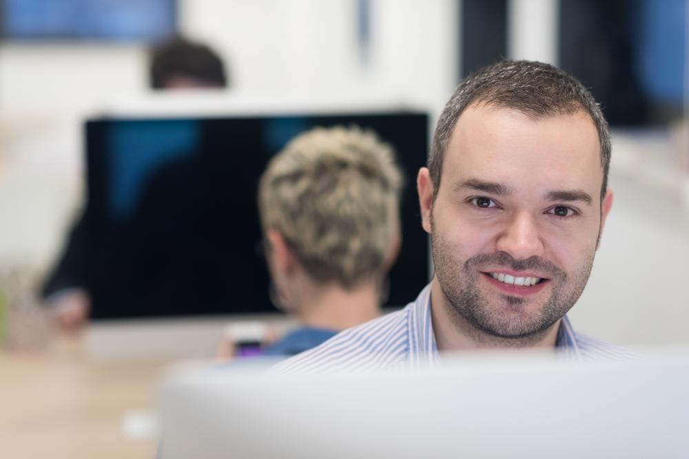 startup business, software developer working on desktop  computer at modern office-4